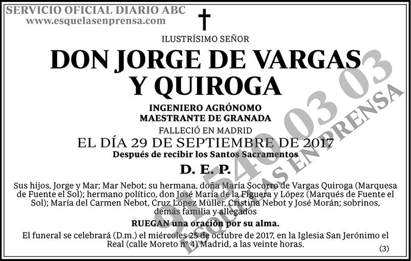 Jorge de Vargas y Quiroga